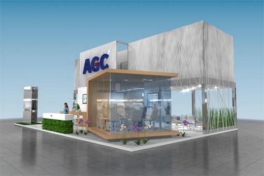 Фасадное остекление стеклом бренда AGC